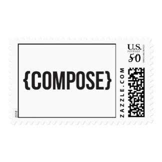 Compose - Bracketed - Black and White Postage