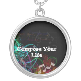 Compose Your Life Round Pendant Necklace