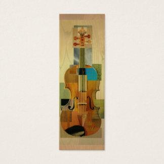 Composed Violin Bookmark Mini Business Card