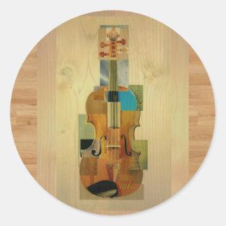 Composed Violin Classic Round Sticker