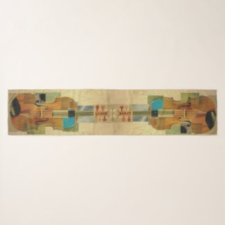 Composed Violin Duo Collage Scarf