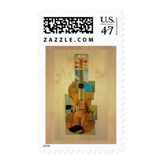 Composed Violin Postage Stamp