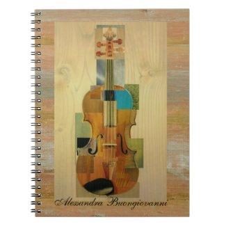Composed Violin Spiral Note Book