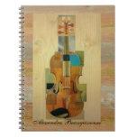 Composed Violin Spiral Notebook