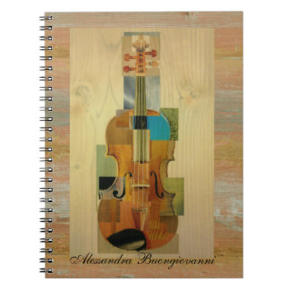 Composed Violin Spiral Notebooks