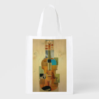 Composed Violin Reusable Grocery Bags