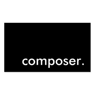 composer. Double-Sided standard business cards (Pack of 100)