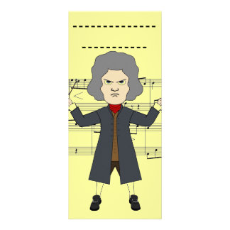 Composer of classical Music in 1800 Th Rack Card