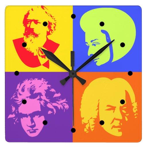 Composer Pop Art Music Clock