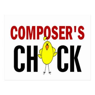 Composer's  Chick Postcard