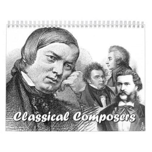 Composers calendar 12 composers_12 Combinations Calendar