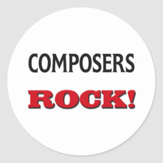 Composers Rock Round Stickers