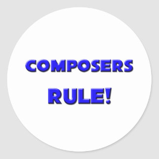 Composers Rule Stickers