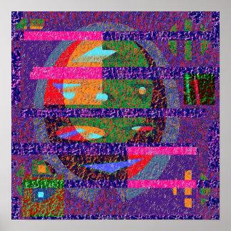 Composición 1.2d de la textura poster