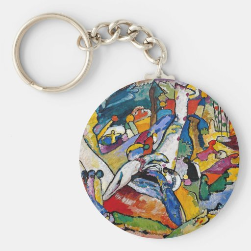 Composición 2 de Kandinsky Llavero