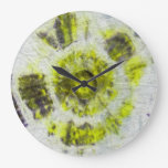 Composición #3 del teñido anudado de Michael Moffa Reloj De Pared
