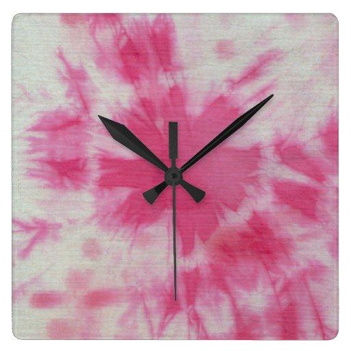 Composición #6 del teñido anudado de Michael Moffa Relojes De Pared