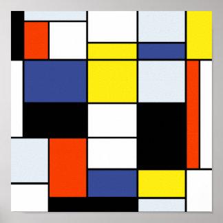 Composición A de Piet Mondrian Póster