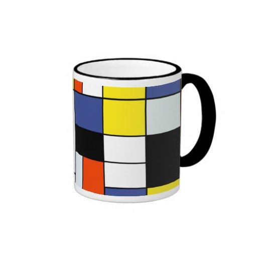 Composición A de Piet Mondrian Taza A Dos Colores