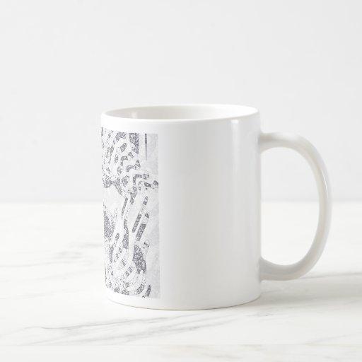 Composición abstracta #4 taza de café