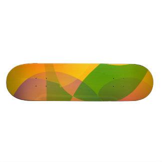 Composición abstracta amarilla monopatin personalizado