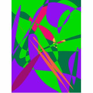 Composición abstracta azul y verde