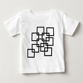 Composición abstracta con los cuadrados t-shirts