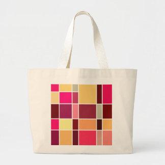 Composición abstracta del color bolsas lienzo