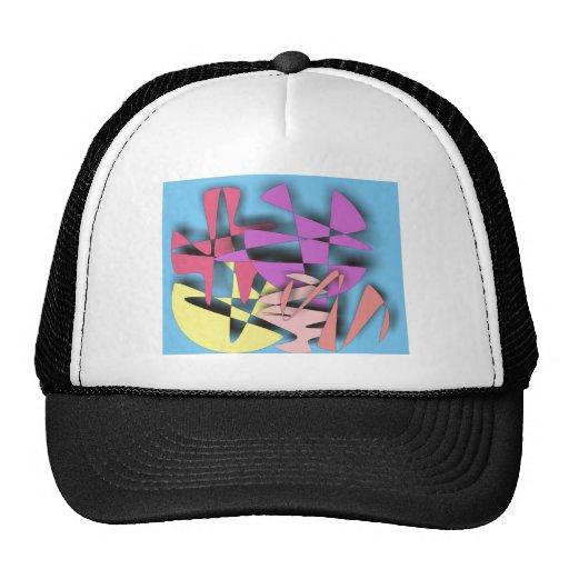 Composición abstracta gorras