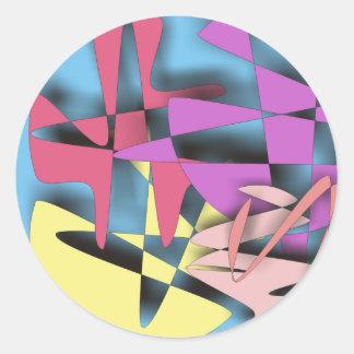 Composición abstracta pegatina
