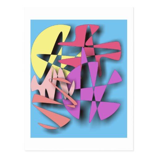 Composición abstracta postal