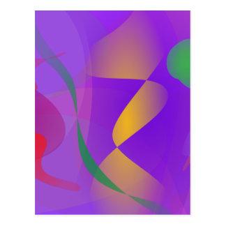 Composición abstracta púrpura postales