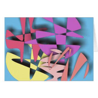 Composición abstracta tarjeta de felicitación