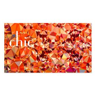 Composición abstracta tarjetas de visita