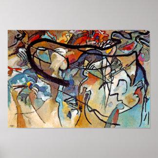 Composición cinco de Wassily Kandinsky Poster