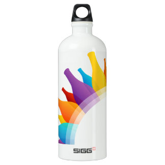 composición colorida de botellas