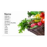 Composición con las verduras crudas plantilla de tarjeta personal