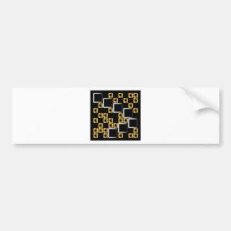 composición con los cuadrados pegatina para auto