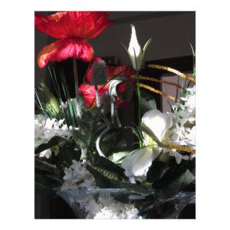 Composición de flores plantilla de membrete