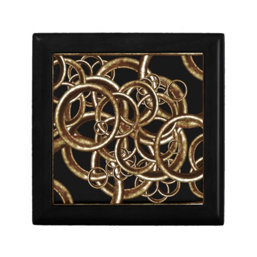 Composición de los círculos cajas de joyas