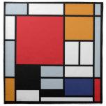 Composición de Mondrian con el avión rojo grande Servilleta De Papel