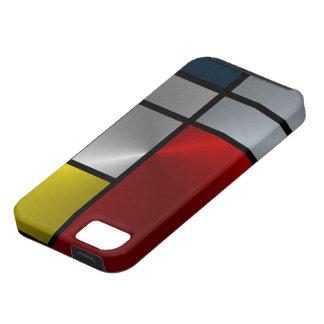 Composición de Piet Mondrian (acero) iPhone 5 Protector