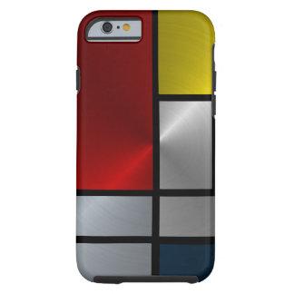 Composición de Piet Mondrian (acero) Funda De iPhone 6 Tough