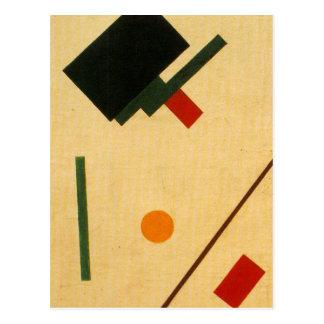 Composición de Suprematist de Kazimir Malevich Tarjetas Postales