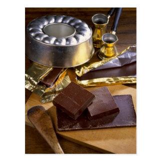 Composición del chocolate para el uso en los E.E.U Tarjeta Postal