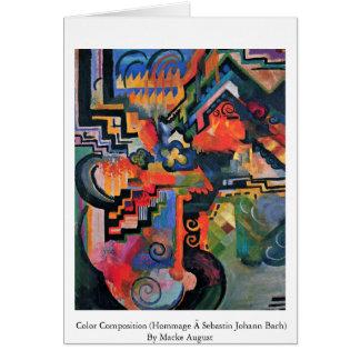 Composición del color (homenaje à Sebastin Juan Ba Felicitación