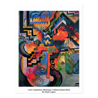 Composición del color (homenaje à Sebastin Juan Ba Postales