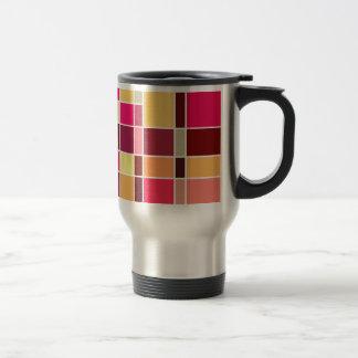 Composición del color taza de viaje de acero inoxidable
