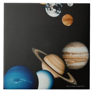 Composición del planeta teja cerámica