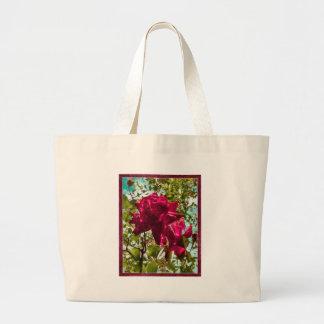 Composición floral del estilo del Grunge Bolsa De Mano